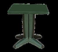 Стол квадратный Papatya Браво 70x70 зеленый