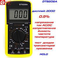 DT9208A мультиметр цифровой