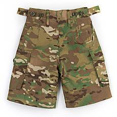Детские шорты для мальчиков камуфляж Мультикам оригинал аналог военных шорт армии Британии, фото 3