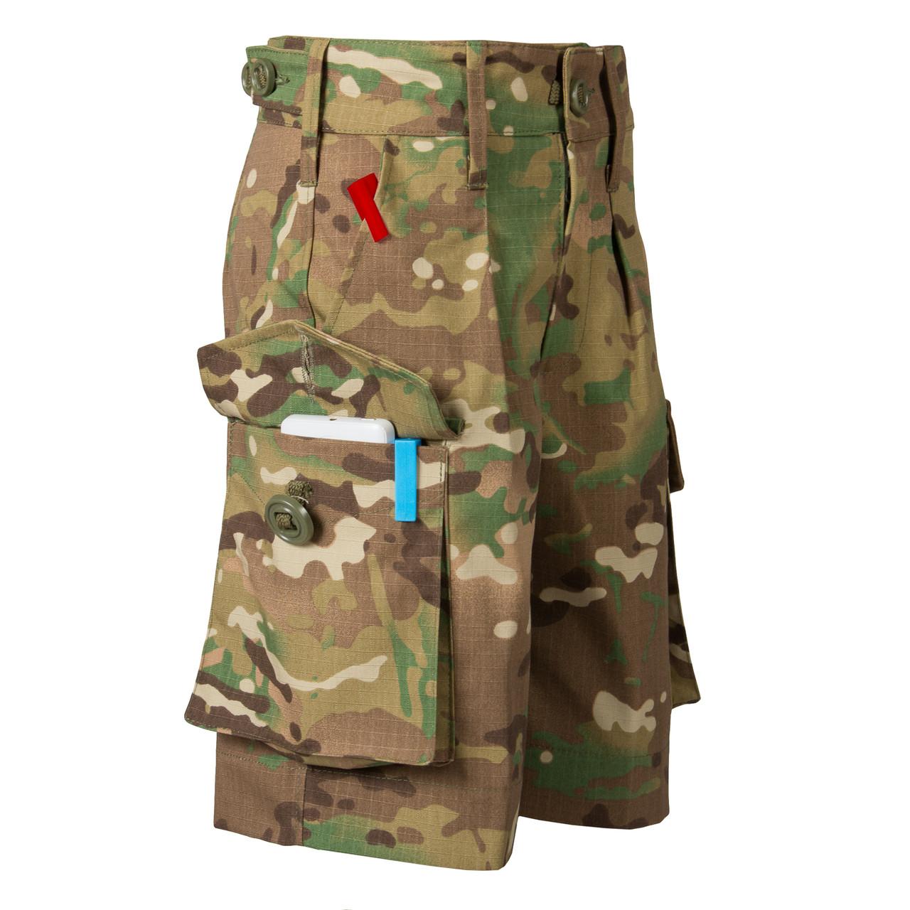 Детские шорты для мальчиков камуфляж Мультикам оригинал аналог военных шорт армии Британии