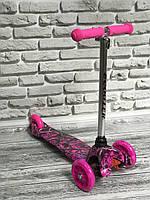 """Самокат MINI """"Scooter"""" 906 ( 6) 3 колеса свет, PU, трубка руля алюминиевая."""