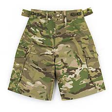 Детские камуфляжные шорты для мальчиков камуфляж Мультикам аналог военных шорт армии Британии, фото 3
