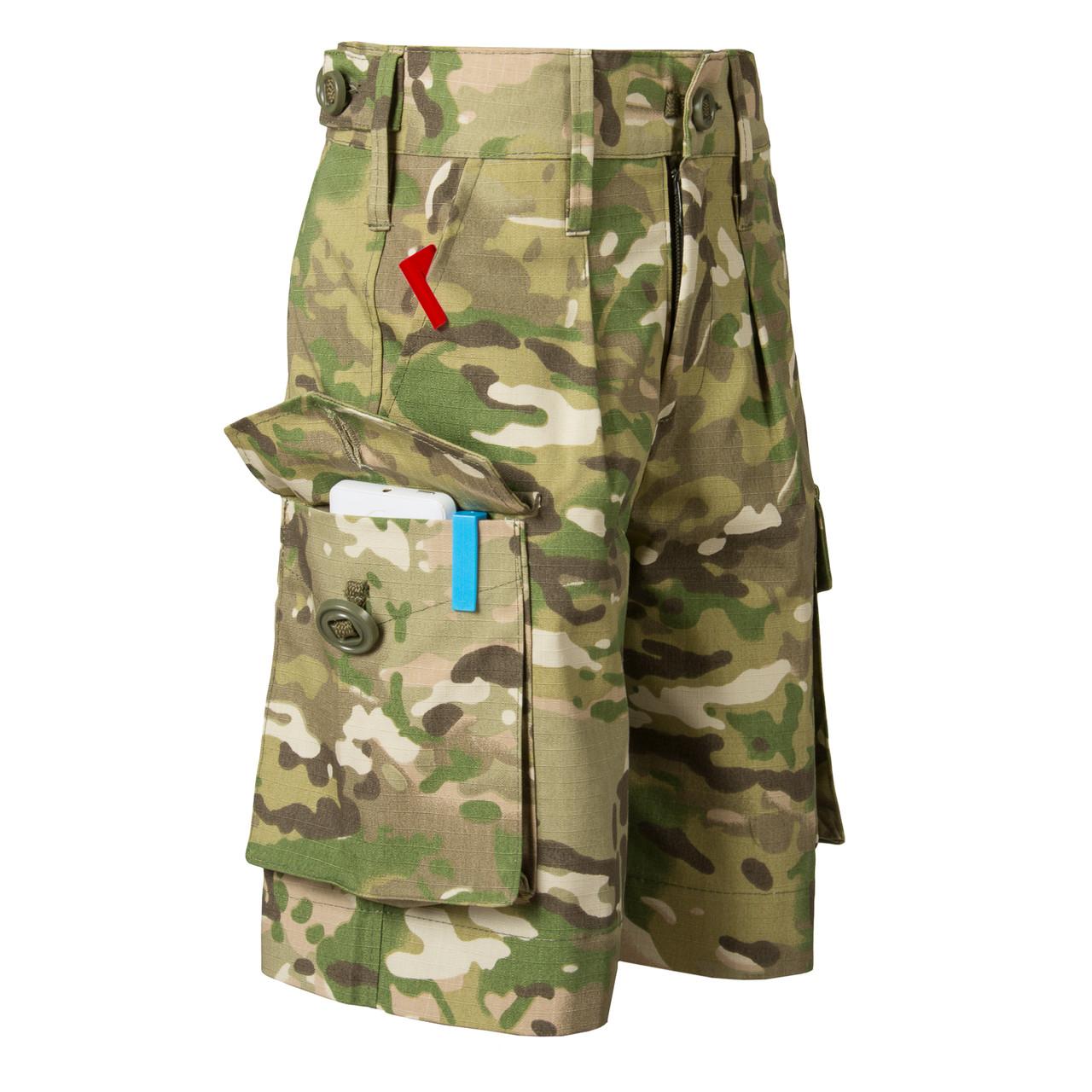 Детские камуфляжные шорты для мальчиков камуфляж Мультикам аналог военных шорт армии Британии