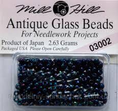 Бисер Mill Hill 03002, 11/0 Midnight Antique Glass Beads