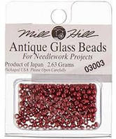 Бисер Mill Hill 03003, 11/0 Antique Cranberry Antique Glass Beads