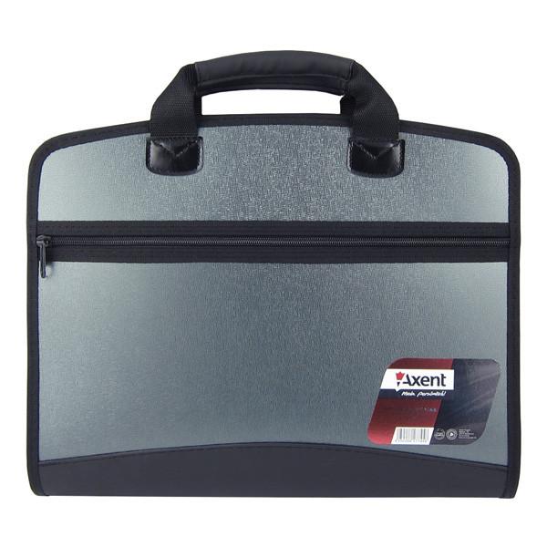 Портфель А4 на 4 отделения, металлик 1621 Серый