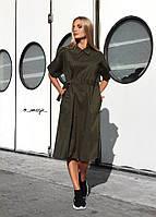 Женское стильное однотонное платье , фото 1