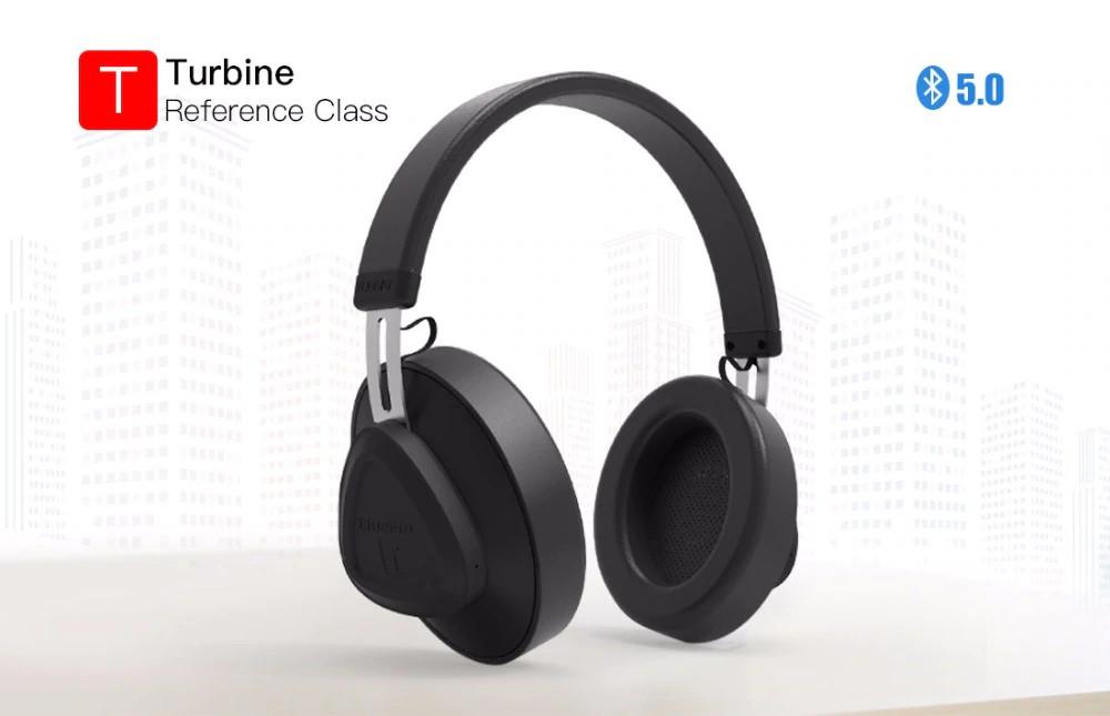 Навушники - гарнітура бездротові Bluedio TM «TURBINE» bluetooth 5.0. Чорні