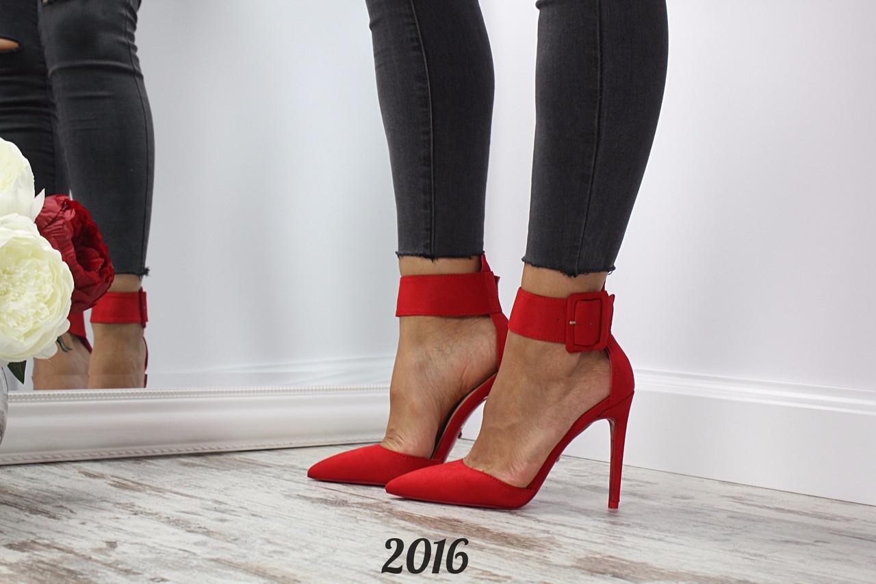 43f7a1cb0 Женские туфли замшевые Nicole красные, цена 575 грн., купить в ...
