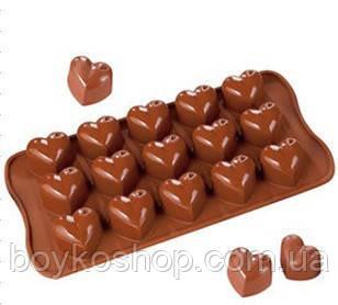 """Форма силиконовая для конфет """"Сердце"""""""
