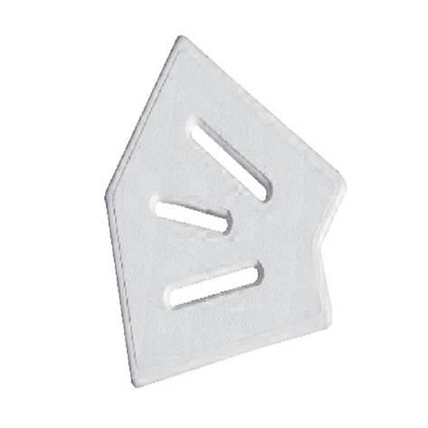 Угловой элемент AquaViva Classic и Grift для переливной решетки 45° 245/25 мм белый), фото 2
