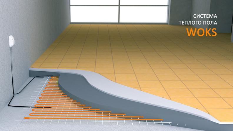 Тепла підлога Woks 17-590 (в стяжку або під плитку 3,1-4,5м.кв)