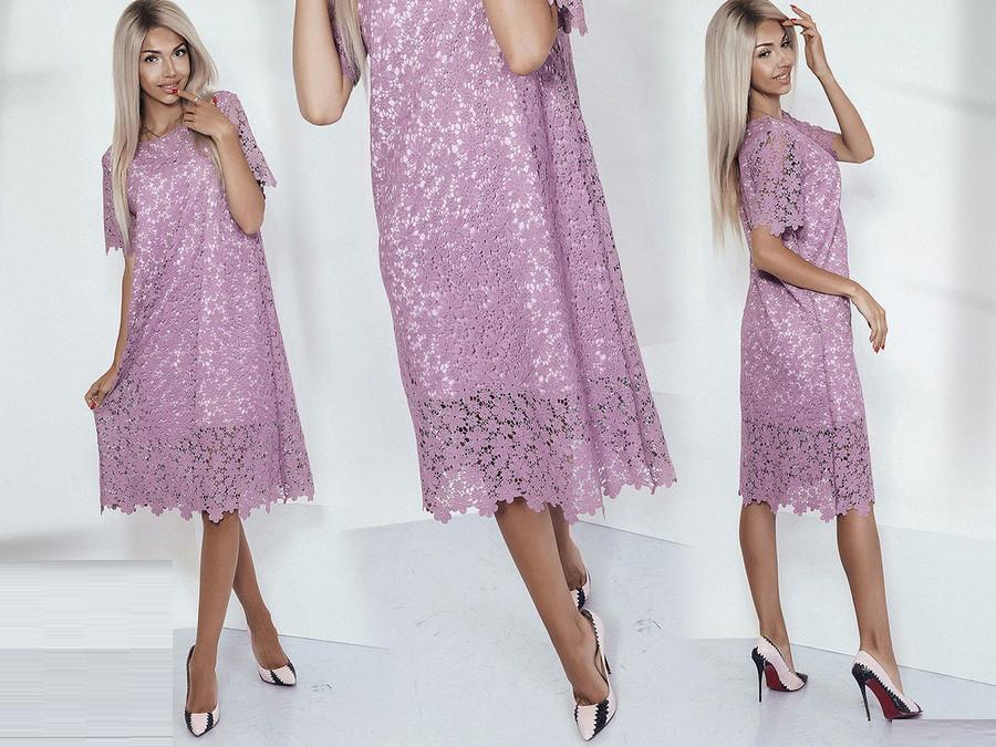 Вязаное платье 3796
