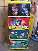 Пластиковый детский комод Том и Джери