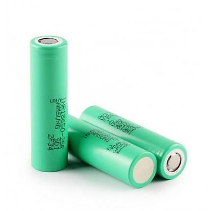Samsung INR18650-25R 2500mah (green, до 35А) - високотоковий акумулятор для електронних сигарет. Оригінал, фото 2