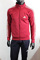 Мужские спортивные костюмы Адидас  эластан с красной кофтой