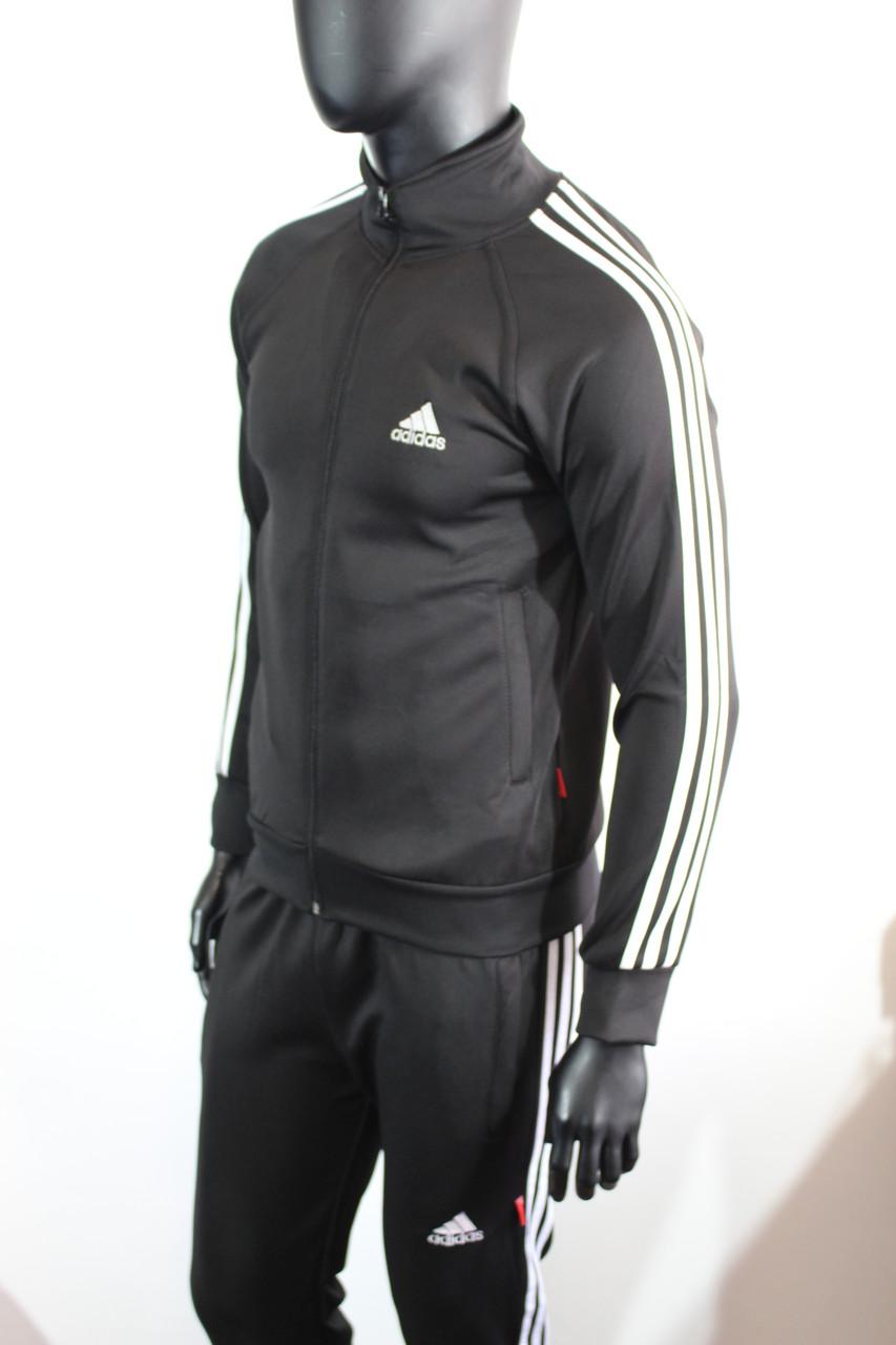 Мужской спортивный костюм Адидас эластиковый черный цвет заказать не дорого  - Интернет-магазин