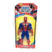 Супергерой Спайдермен, 19см, свет, подвижные руки и ноги, 945A-3