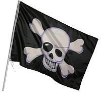 Пиратский Флаг-знамя 150*90 см