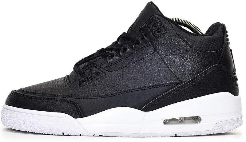 """Баскетбольные кроссовки в стиле Nike Air Jordan 3 """"Black/White"""""""