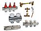 Коллекторная группа Roda 7 выходов (латунь) Смесительная группа,расходомеры,термоклапана,байпас., фото 2