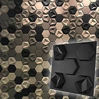"""Форма для шестигранных 3D панелей """"Стоун"""" 190*170 мм"""