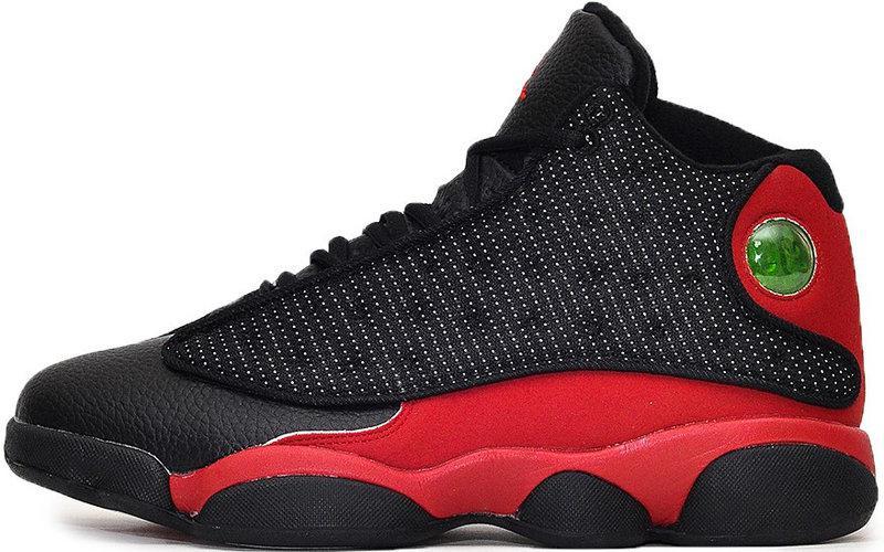 """Баскетбольные кроссовки в стиле Nike Air Jordan 13 """"Black/Red"""""""