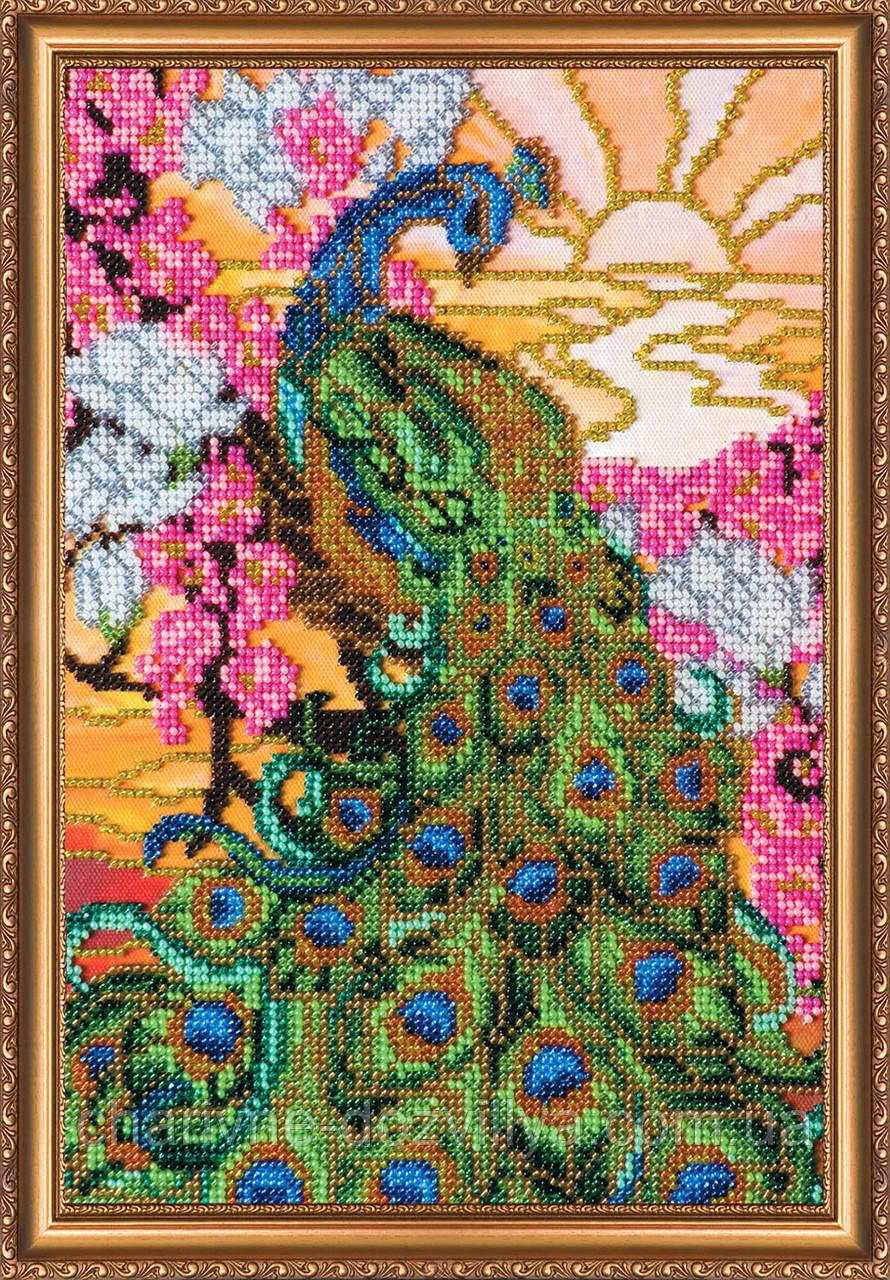 Набор для вышивания бисером Павлин