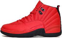 """Баскетбольные кроссовки в стиле Nike Air Jordan 12 """"Red/Black"""""""