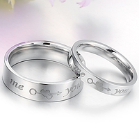 """Кольца для влюбленных """"You and me"""", в наличии жен. 16.5,муж.19, фото 1"""