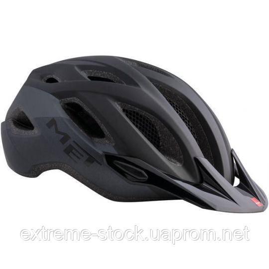 Велосипедный шлем Met Crossover, чёрный матовый, L/XL