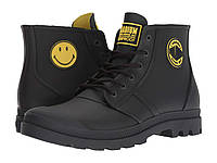 Ботинки Сапоги (Оригинал) Palladium Pampa Smiley Rain Waterproof Anthracite 021b5bdac27be