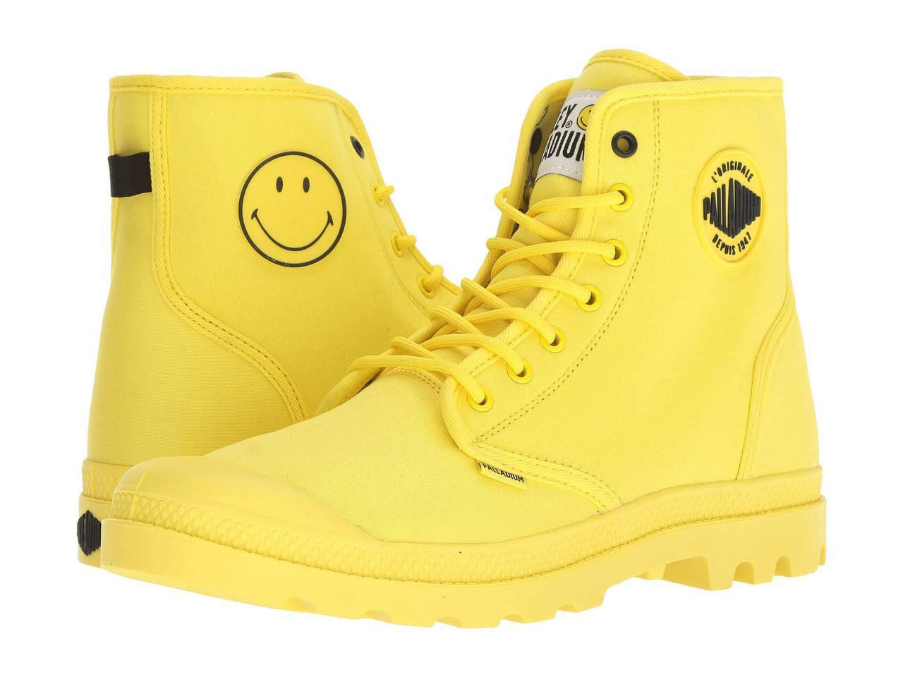 Ботинки Сапоги (Оригинал) Palladium Pampa Smiley Festbag Blazing Yellow d37d714e95659