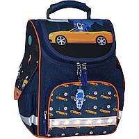 Украина Рюкзак школьный каркасный с фонариками Bagland Успех 12 л. синий 432 (00551703), фото 1