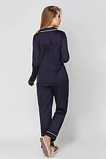 Пижама шелковая рубашка и брюки  с кантом , фото 3