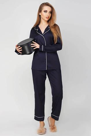 Пижама шелковая рубашка и брюки  с кантом , фото 2