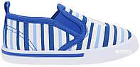 Кеды в полосочку для мальчиков, голубые, Lapsi (Arial) (23) (5518-1607/23б)