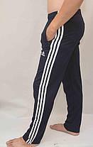Штаны спортивные  трикотаж - 3 белые полосы., фото 3