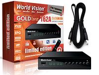 Т2 ресивер World Vision T62A + обучаемый пульт + HDMI кабель