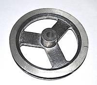 Шкив для стиральной машинки полуавтомат Тарврия D=119,5*10mm.Под вал 10mm.Алюминиевый.
