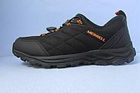 Кроссовки зимние  Merrell 09633 черно-оранжевые код 634М