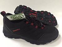 Кроссовки зимние  Merrell 09633 черно-красные код 636М