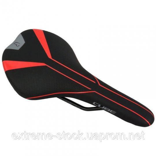 Седло для мтб/шоссе Cube RFR Men, чёрно-красно-серое