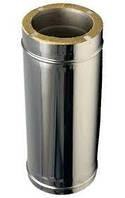 Дымоходная труба из нержавейки в нерж. кожухе L-1м 200/260