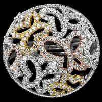Кольцо серебряное 925 натуральный белый топаз.
