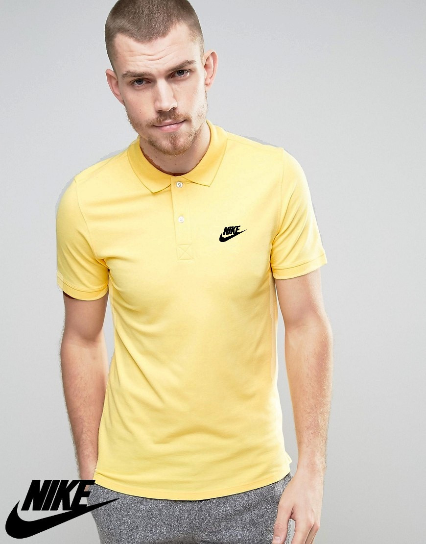 Футболка Поло Nike | Жовта теніска Найк