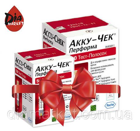 Тест-полоски Акку-Чек Перформа (Accu-Chek Performa) - 2 упаковки по 50шт.