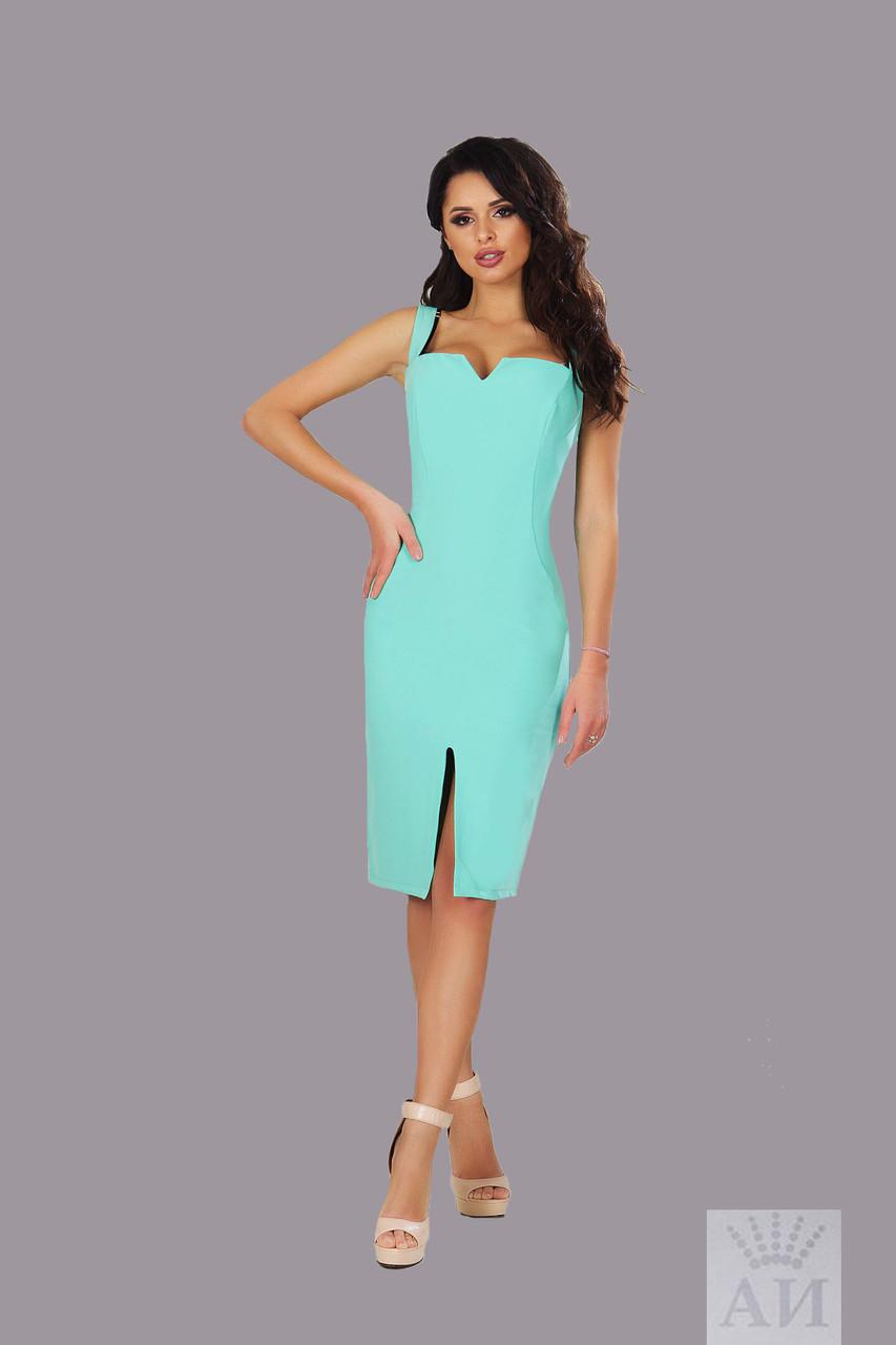 Платье женское короткое из креп-котона (К10311)