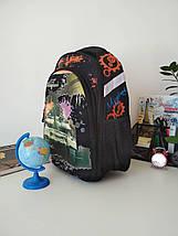 Школьный текстильный рюкзак Migini для мальчика 40*30*17 см, фото 3