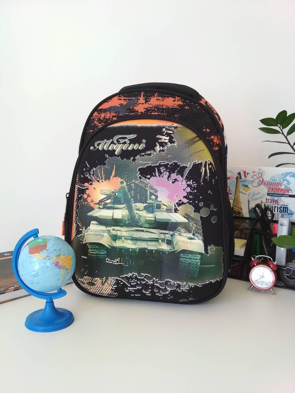Школьный текстильный рюкзак Migini для мальчика 40*30*17 см
